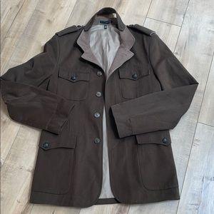 Zara Man Coat Jacket Sz 38 Brown/Greenish